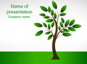 2012 Arbor Day theme ppt template