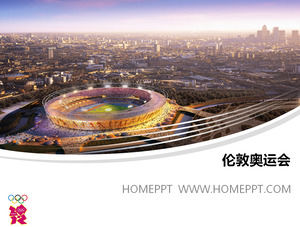 2012 London Olympic Games Main Stadium PPT template download