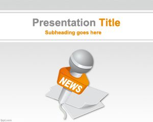 World News Powerpoint-Vorlage