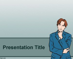 Thinker Powerpoint-Vorlage