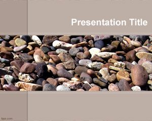Beach Template pietre PowerPoint