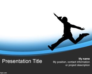 Kid Running PowerPoint Template