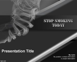Stop Smoking PowerPoint Template
