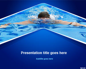Swim Powerpoint-Vorlage