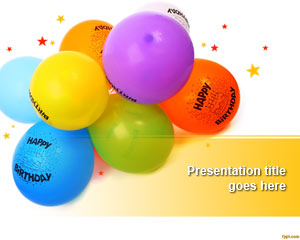 Balony PowerPoint Template
