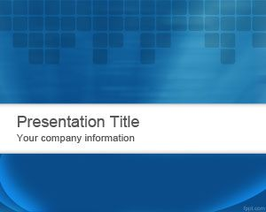 Abstract Blue PowerPoint Template