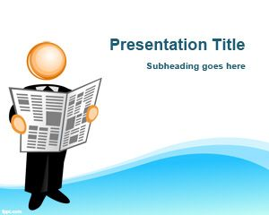 Free Press Release PowerPoint Szablony