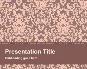 Floral Pattern PowerPoint Template