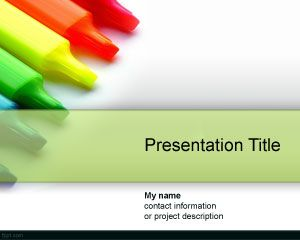Color Drypen PowerPoint Template