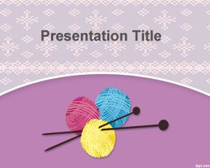 Knit Powerpoint-Vorlage