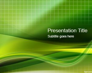 Template Green Grid PowerPoint