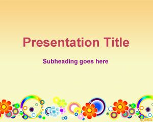 Template Spring Flower PowerPoint