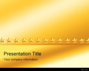 Template Gold Stars PowerPoint