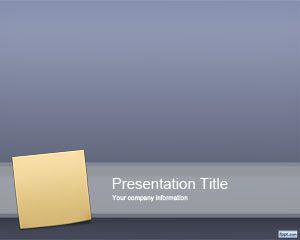 Sticky Note Шаблон PowerPoint
