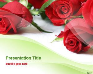 Romantic Template Roses PowerPoint