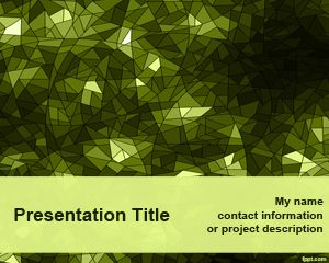 Green Kaleidoscope PowerPoint Template