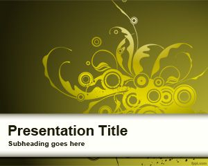 Template Yellow Curly Sprout PowerPoint