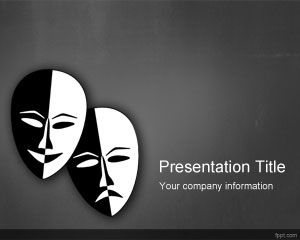 Template Theater PowerPoint Drama