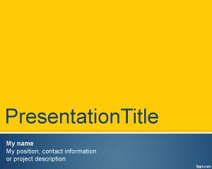 Formal Theme for PowerPoint