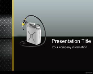 Gas Can PowerPoint Template