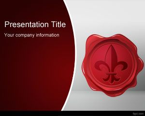 Wax Seal PowerPoint Template