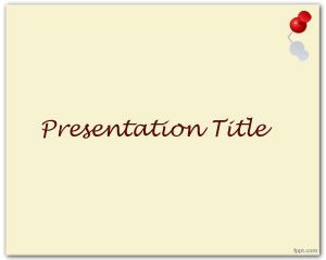 Paku payung PowerPoint Template