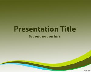 Dark Green Background for PowerPoint