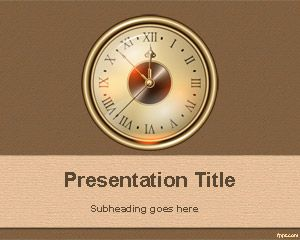 Old Clock PowerPoint Template