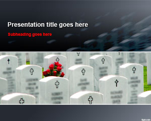 Cemetery Tombstones PowerPoint Template