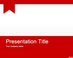 Red Academic PowerPoint Template