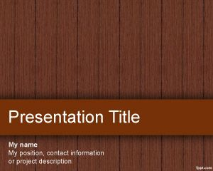 Wood Material PowerPoint Template