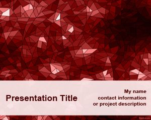 Template Red Kaleidoscope PowerPoint