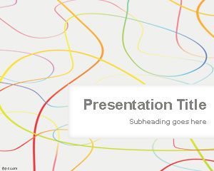 Template cor solta Lines PowerPoint