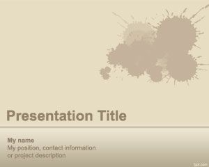 Splash PowerPoint Template