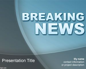 Template Breaking News PowerPoint