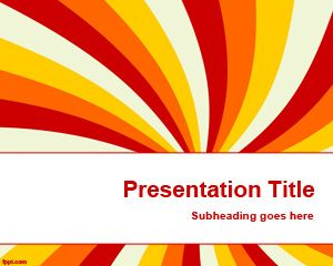 Template warna Beam PowerPoint