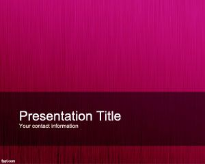 Fucsia Personalized PowerPoint Template
