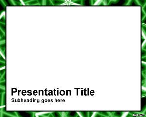 Green Rods Frame PowerPoint Template