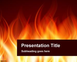 Burning PowerPoint Template