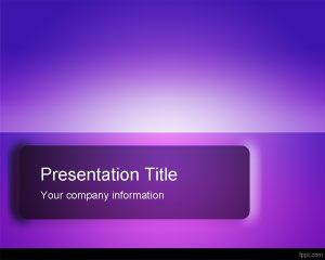 Violet Impressive PowerPoint Template