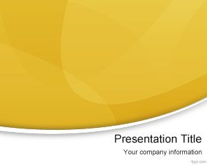 Giallo Moderno PowerPoint Template