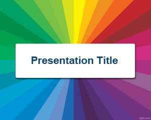 Template warna Radial PowerPoint
