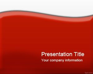 Glossy Red PowerPoint Template