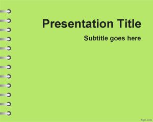 Green School Homework PowerPoint Template