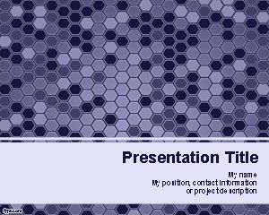 Violet Hexagons PowerPoint Template