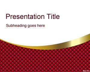 Template Red Quirky PowerPoint