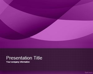Template Violet PowerPoint Exotic