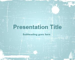 Cyan Abstract PowerPoint Template