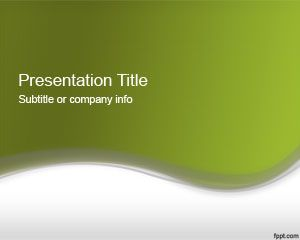 Abstract Green PowerPoint Template 2012
