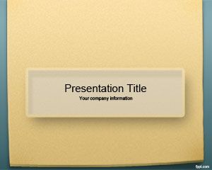 Sticky Notes PowerPoint Template